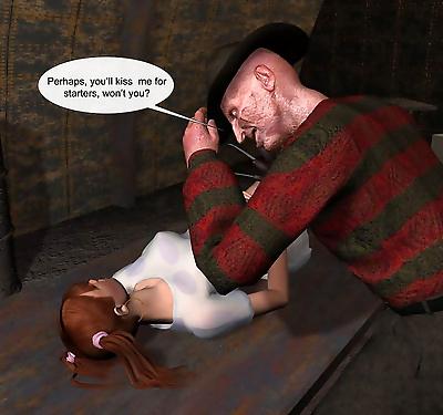 Nightmare freddie 3d porn..