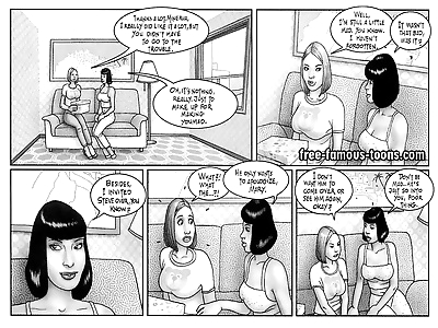 Hot girls in lesbian orgy -..