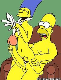 Famous toons homer and marge simpsons orgy - part 5