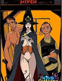 Stacked witch giving sloppy blowjob - part 1281