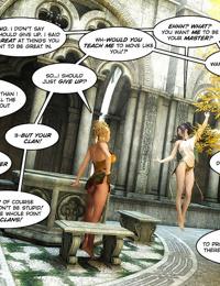 Lesbian action in thise 3d comic - part 14