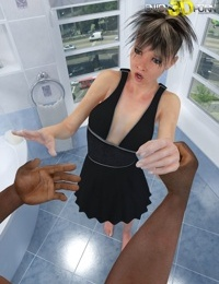 White shemale likes to suck black dick - part 9