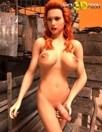 Nude redhead tranny with huge tits and thick cock - part 10